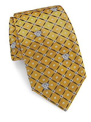Silk Geometric Printed Tie