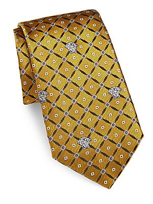 Embossed Textured Silk Tie