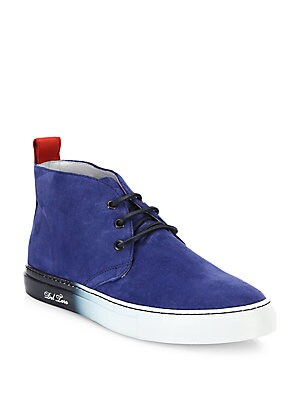 Faded Sole Suede Chukka Sneakers