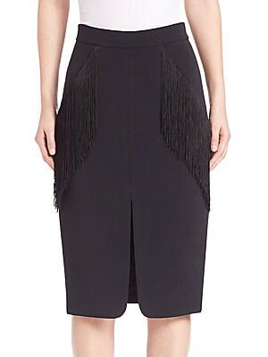 Fringe Pocket Pencil Skirt