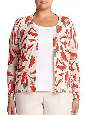 Cashmere & Silk Printed Cardigan