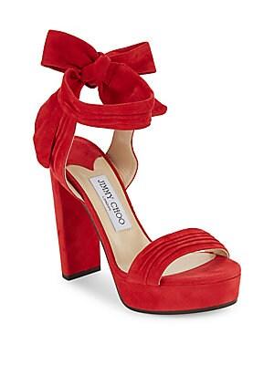 Kaytrin 120 Suede Ankle-Tie Platform Sandals