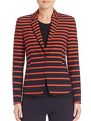 Graphic Stripe-Print Jacket