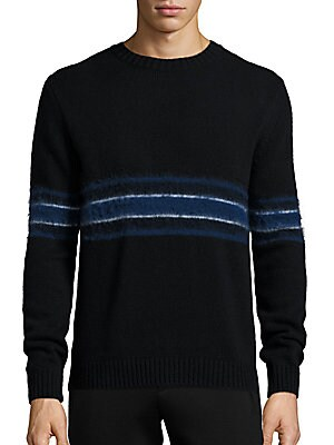 Retro Spectrum Striped Mohair & Wool Blend Sweater