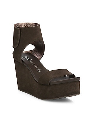 Darla Leather Wedge Sandals