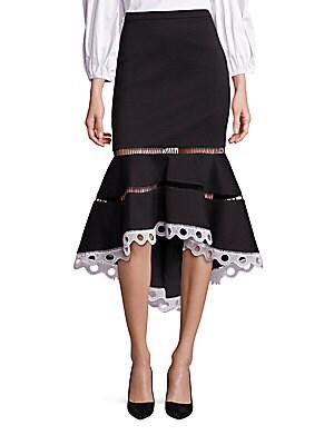 Francesca Ruffle Hem Midi Skirt
