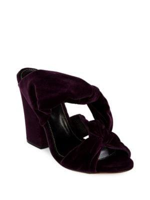 Moulage Block Heel Velvet Sandals