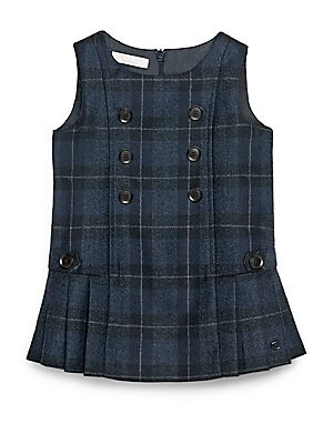 Baby's Checked Wool Dress