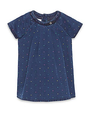 Baby's Denim Dot Dress