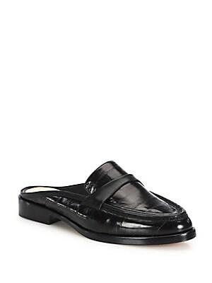 Eel Loafer Slides