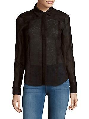 Textured Long-Sleeve Shirt