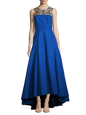 Embellished Asymmetric Dress
