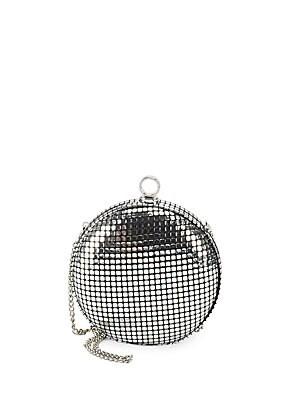 Metallic Round Convertible Clutch