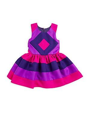 Little Girl's Colorblock A-Line Dress