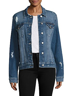 Ashley Distressed Denim Jacket