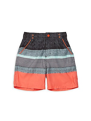 Little Boys Striped Three-Pockets Shorts