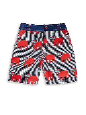 Little Boys Snorkel Dog-Print Shorts