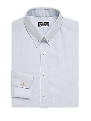 Click here for Mini Dot Cotton Button-Down Dress Shirt prices