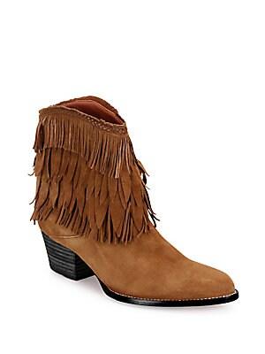 Pocahontas Suede Cowboy Boots