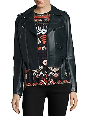 Cooper Cropped Leather Moto Jacket
