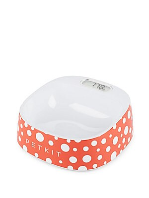 Polka-Dotted Digital Pet Bowl