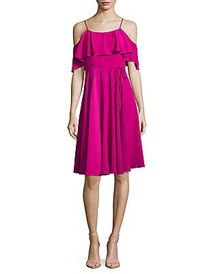 Cece Solid Cold-Shoulder Dress