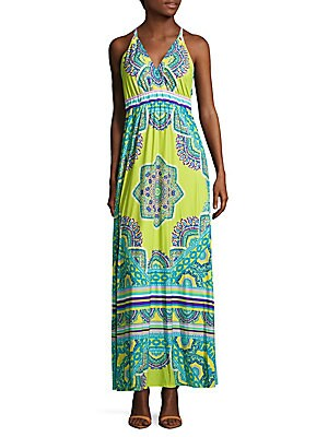 Printed Cover-Up Maxi Cover-Up