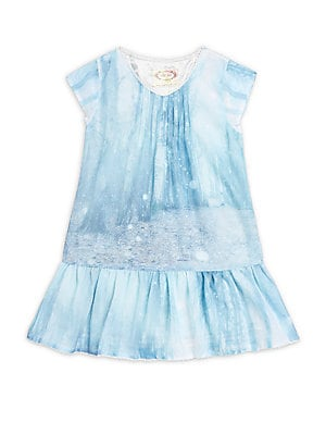Little Girl's & Girl's Shaela Roundneck Ruffled Dress