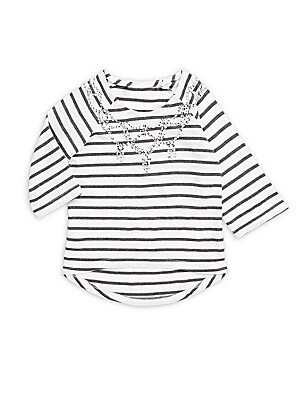 Little Girl's & Girl's Grace Striped Sequined Top