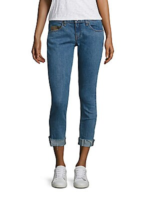 Dre Boyfriend Light Wash Crop Jeans