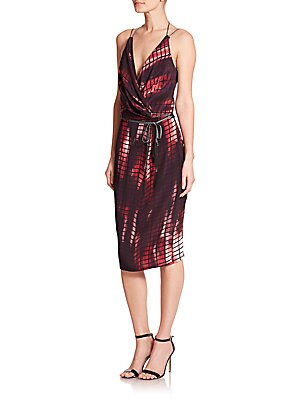 Olivia Printed Knit Wrap Dress