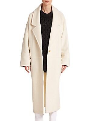 Oversized Vida Wool Boucle Coat