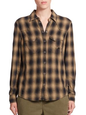 Buffalo Plaid Western Shirt