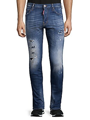 Dyed Ripped Jeans