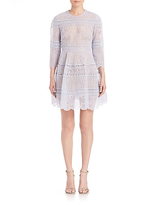 Adorn Embroidered Mini Bell Dress