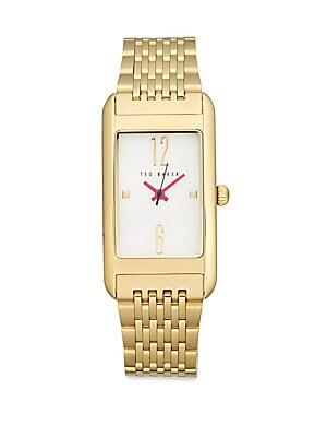 Mother-Of-Pearl Rectangular Bracelet Watch