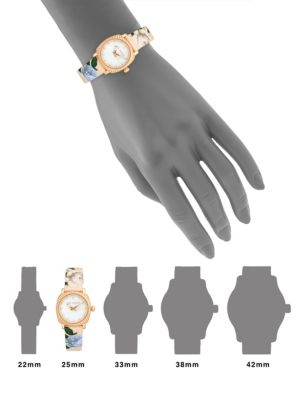 TED BAKER Floral Mother-Of-Pearl Analog Fashion Watch