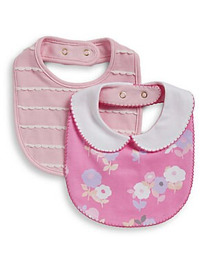 Baby's Two-Pack Floral Bib Set