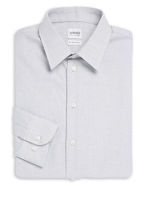 Textured Cotton Dress Shirt