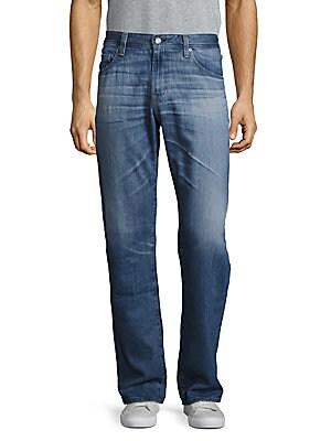 Cotton-Blend Five-Pocket Jeans