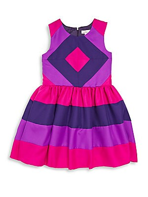 Girl's Sleeveless Colorblock Dress