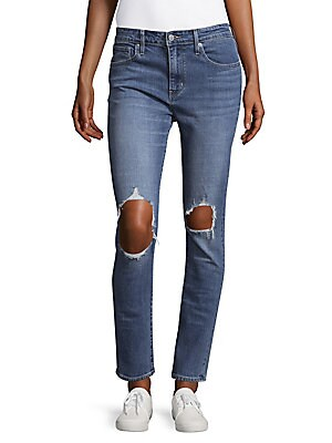 721 High-Rise Distressed Skinny Jeans