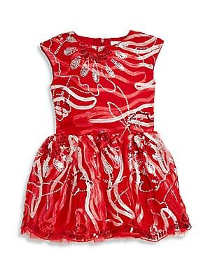 Little Girl's & Girl's Embroidered Ribbon Dress