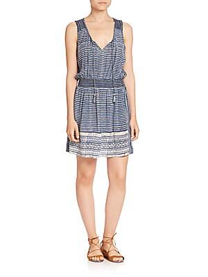 Zineba Silk Striped Dress