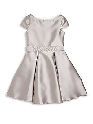 Girl's Belted Fit-&-Flare Dress