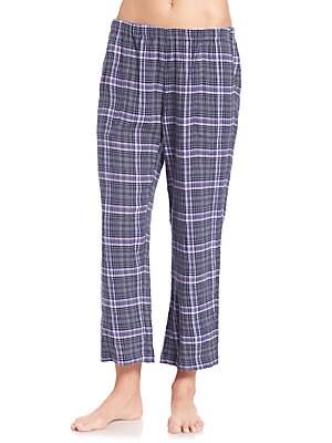 Donna Plaid Cotton Pants