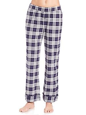 Plaid Cotton Pants