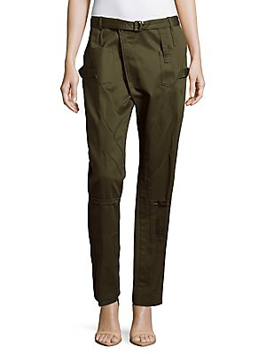 Cotton Six-Pocket Cargo Pants
