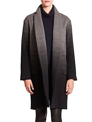 Ombré Wool Coat