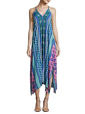 Printed Handkerchief Cover-Up Dress